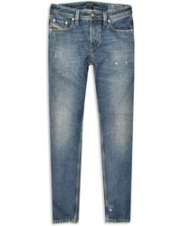 DIESEL Beex Camel Blue Distressed Limited Edition Jeans pour homme - Bleu
