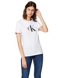 Calvin Klein Core Monogram Logo Regular Fit Tee T-shirt - White