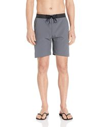 "Hurley Elastic Waist 18"" Inch Phantom Alpha Sneaker Gym Short - Gray"
