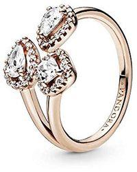 PANDORA Square Sparkle Rose Ring, Size: EUR-52 - Multicolore