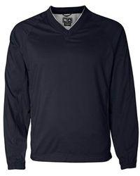 adidas Golf S Climaproof V-neck Wind Shirt - Blue
