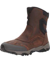 """Merrell Coldpack Ice+ 8"""" Zip Polar Waterproof Snow Boot - Brown"""