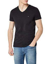 Tommy Hilfiger Core Stretch Slim Vneck Tee T- T-Shirt - Noir