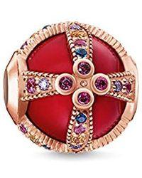 Thomas Sabo Royalty Red Rose-gold Karma Bead