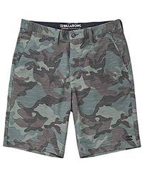 Billabong Crossfire X Slub Mid Shorts - Grey