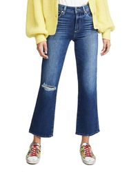 PAIGE Atley Ankle Flare Jeans - Blue