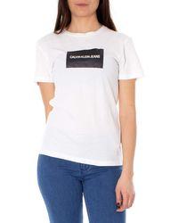 Calvin Klein Institutional Box Slim Fit Tee T-Shirt - Blanc