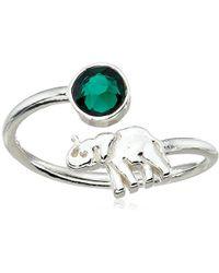 ALEX AND ANI - S Elephant Ring Wrap - Precious Metal - Lyst