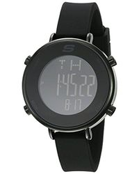 Skechers - Quartz Metal And Silicone Casual Watch, Color Black (model: Sr6065) - Lyst