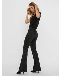 Vero Moda VMKAMMA Nw Flared Glitter Pant GA Color Pantaloni - Nero