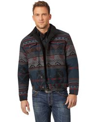 Wrangler Western Sherpa Lined Trucker Jacket Jacke - Schwarz