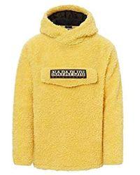 Napapijri Fleece Ricciolo Pocket Pouch - Yellow