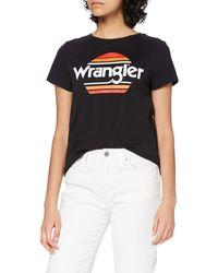 Wrangler Rainbow Tee T-Shirt - Nero