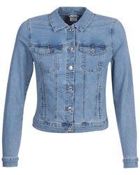 Vero Moda Vmhot Soya Ls Denim Jacket Mix Noos Jeansjacke - Blau
