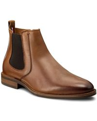 Tommy Hilfiger Essential Leather Chelsea Boot - Marron