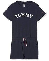 Tommy Hilfiger Playsuit Pijama de una Pieza para Niñas - Azul