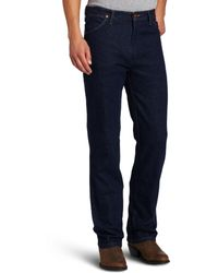 Wrangler Western Regular Boot Cut Jean,navy Stretch,36x30 - Blue