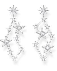 Thomas Sabo Boucles d'oreilles étoiles argent Argent Sterling 925 H2085-051-14 - Métallisé