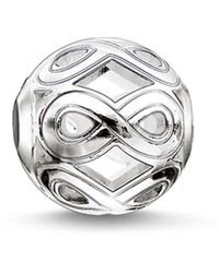 Thomas Sabo Bead Infinity Karma Beads 925 Sterling Silver K0173-001-12 - Metallic