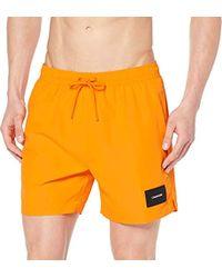 Calvin Klein Medium Drawstring Short de Bain Homme - Orange