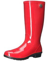 687fbf03a59 Lyst - UGG Shaye Bandana Rain Boots in Brown
