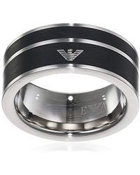 Emporio Armani - Ring aus Edelstahl - Lyst