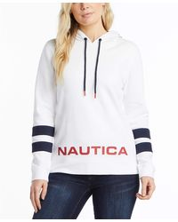 Nautica Classic Supersoft 100% Cotton Pullover Hoodie - White