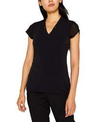 Esprit Collection 099eo1k011 Camiseta - Negro