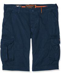 Superdry Pantalones cortos ligeros tipo cargo Core - Azul