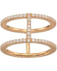 Michael Kors Precious Metal-plated Sterling Silver Pav¿ Ring Jacket Rose Gold 5 - Metallic