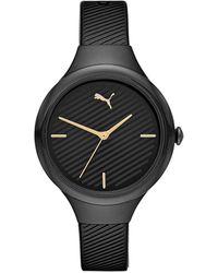PUMA Contour Polyurethane Watch - Black