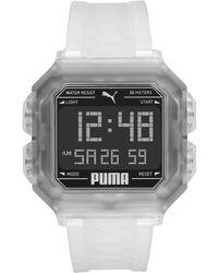 PUMA Remix Collection - Transparent Silicone - Case Diameter 45 - Multicolour
