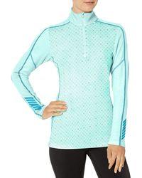 Helly Hansen W Hh Lifa Merino Graphic 1/2 Z Sports Shirt - Blue