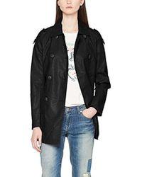 Vero Moda Vmcherry Faux Leather Trenchcoat Coat - Black