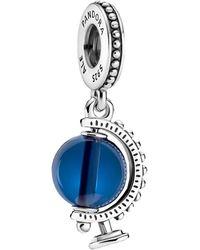 PANDORA Blue Globe Dangle Charm - Azul