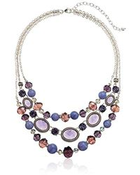 Napier - Silver-tone And Purple Multi-row Necklace - Lyst