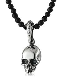 King Baby Studio - Hamlet Skull On Onyx Beaded Necklace - Lyst