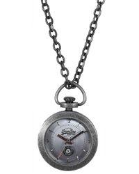 Superdry Ladies Antique Silver Dial Chain Watch - Metallic