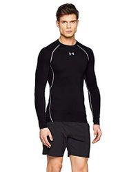 d4c6b2a09f4e2 Compression Shirt Ua Heatgear Armour, Long-sleeve Functional Shirt,  Breathable Long-sleeve Shirt For - Black