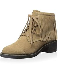 House of Harlow 1960 - Cutler Lace Up Ankle Boot With Fringes - Lyst