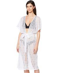 Iris & Lilly Amazon Brand - Women's Cover-up, White (bright White), S, Label:s