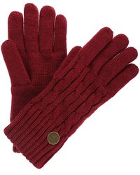 Regatta S/ladies Multimix Ii Cable Knit Winter Walking Gloves - Red