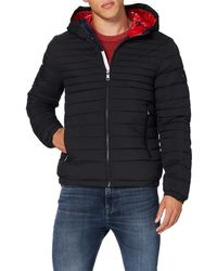 Tommy Hilfiger - Quilted Hooded Jacket Bomberjacke - Lyst