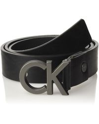 Calvin Klein Casual Ck Adj. Buckle Belt Ceinture - Noir