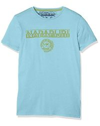 Napapijri K Spartan, T-Shirt Garçon - Bleu