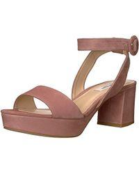 965a8ebd186f L.K.Bennett Agata Loganberry Satin Sandal in Purple - Lyst