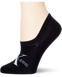Calvin Klein Liner 1p Jeans Logo Brooklyn Calzini - Nero