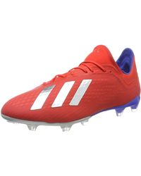 adidas X 18.2 FG, Chaussures de Football Homme, Multicolore (Rojact/Plamet/Azufue 000) - Rouge