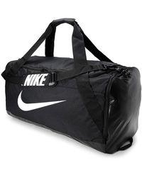 Nike BRASILIA 101L XL Black Duffel Bag - Schwarz
