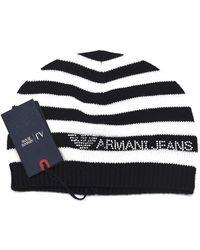 Emporio Armani Armani Jeans B5426 Bonnet d'hiver pour femme - - Blu Blue, 2 EU - Bleu